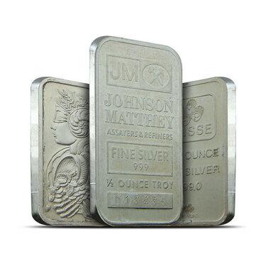 Buy 1 2 Ounce Silver Bars Online 1 2 Oz 999 Fine Silver Bars
