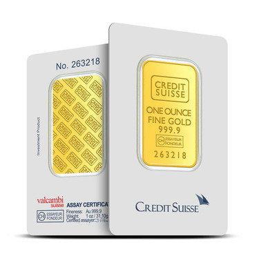 Credit Suisse 1 Oz Gold Bar 9999 Fine Gold Provident Metals