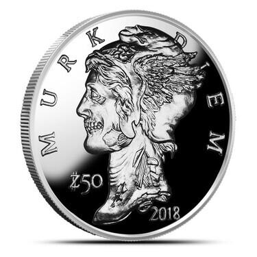 "2018 /""Murk Diem/"" 1 oz .999 Copper Round Zombucks Series"