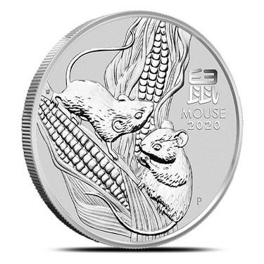 2020 Silver 1 oz Australia Perth Lunar Mouse