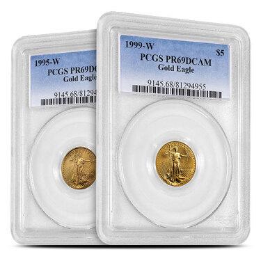 QTY 5-1//10 OZ US MINT GOLD//PLATINUM AMERICAN EAGLE /& BUFFALO COIN CAPSULES