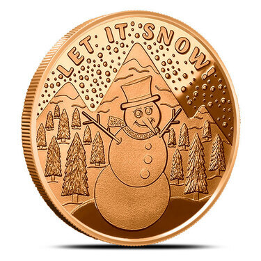 Christmas Angel 1 oz .999 Copper BU Round USA Made Holiday Season Bullion Coin