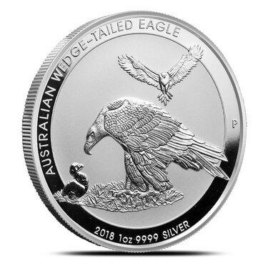 Niue 2019 Australia Wedge-Tailed Eagle Wildlife Up Close $1 1 Oz Silver Antiqued