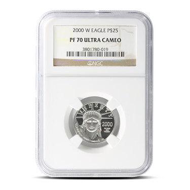 2002-W PCGS PR70 1//4 oz Proof Platinum Eagle $25