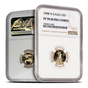 1998-P NGC PF70 Ultra Cameo Proof Silver Eagle