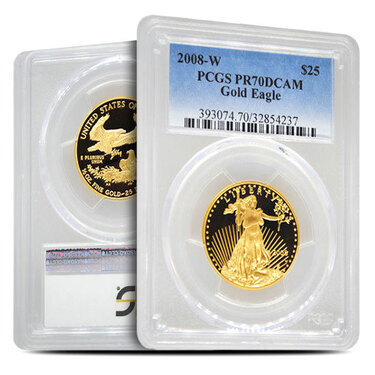 2008-W American Silver Eagle Proof PCGS PR70 DCAM