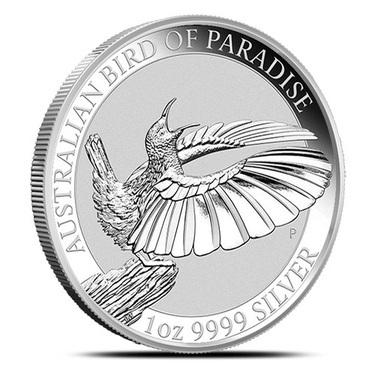 Bird of Paradise real,UNC Australia 1 Dollars 1 oz SILVER Bullion Coin 2018