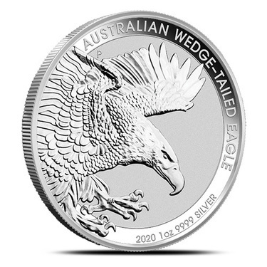 2018 Australia Wedged-Tailed Eagle 1 oz .9999 Silver Limited BU Capsuled Coin