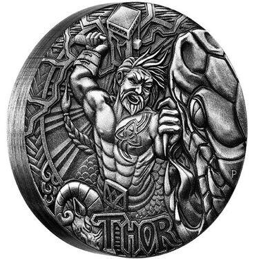 Perth Mint Loki 2016 $2 Tuvalu Norse Gods 2oz Silver High Relief Coin
