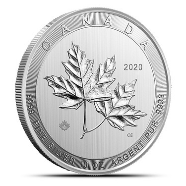 RCM 2019 Red Maple Leaf Colourised Gilded 1oz .9999 Silver Coin