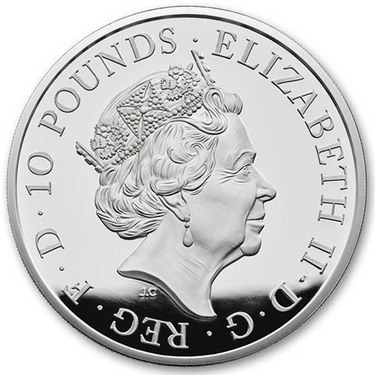 2018 Britain 1 oz Silver Queen/'s Beasts Black Bull Clarence Proof Coin