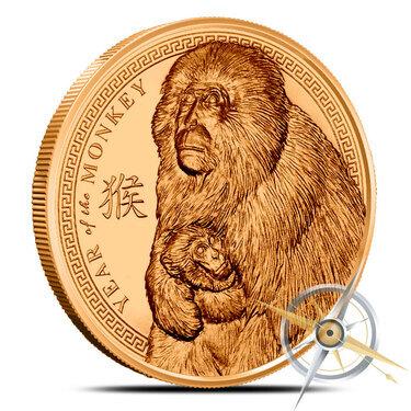2016 Year of the Monkey 1 oz Copper Round BU