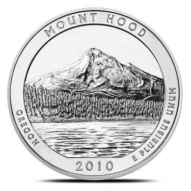 "2010 S PROOF 90/% SILVER Washington Quarter /""Mount Hood/"" Oregon State Park"