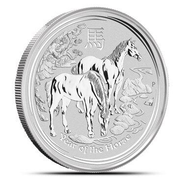 2 oz .999 fine  Silver  Perth  Mint Lunar Year of Horse 2014  Coin