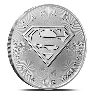 Fee Shipping! 2016 $5 Canadian 1 oz 9999 Silver in capsule SUPERMAN