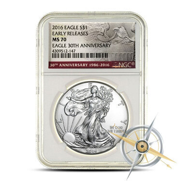 Early Releases NGC MS70 2016 American Silver Eagle