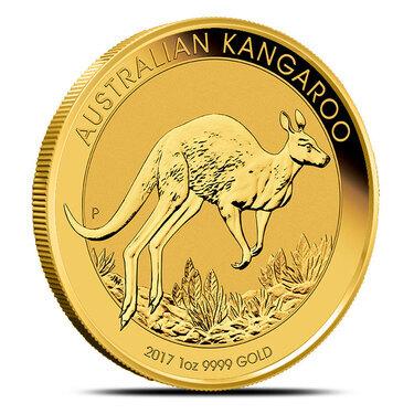 1//10 oz Australian Kangaroo//Nugget Gold Coin .9999 Fine Random Year