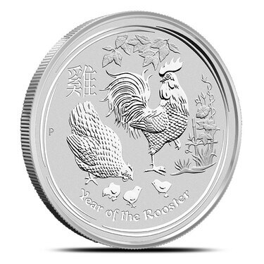 2017 Australia 4-Coin 1 oz Silver Proof Lunar Rooster Set Rect