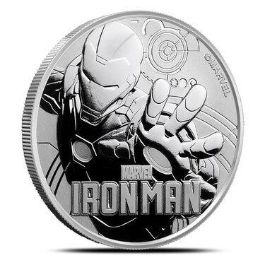 Tuvalu 2018 $1 IRON MAN III 1 oz Silver Gold