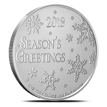 SANTA CLAUS   1 oz Fine  Silver Christmas Round 2018