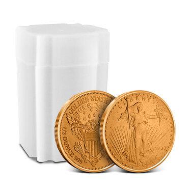 Saint Gaudens 1//2 oz .999 Copper Bullion Rounds 20 Coins