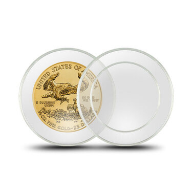 5 DIRECT FIT 40.6MM COINSAFE HOLDERS CAPSULE---AMERICAN SILVER EAGLE 1 OZ COIN