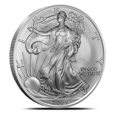 BU Silver Dollar Coins 2004 American Eagle 1 oz