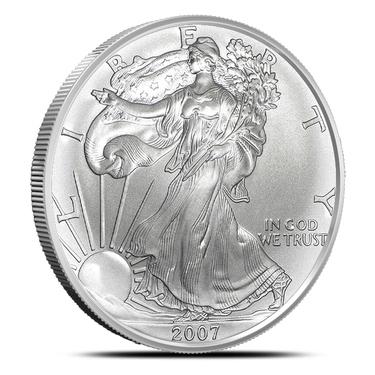 2007 BU American Silver Eagle Dollar Uncirculated ASE US Mint Bullion Coin