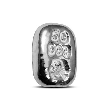 5 Gram .999 Fine POURED Silver Bar **SKULL AND CROSSBONES** by the Atlantis Mint
