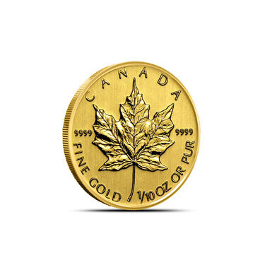 1//10 oz #1 GOLD MAPLE LEAFS CANADIAN COIN CAPSULES  16mm pkg of 5