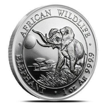 "African Wildlife /""Elephant/"" 1 oz .999 Copper Round"