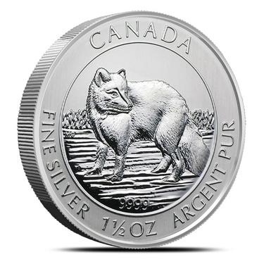 2014 Canada $8 1.5oz 1 1//2oz Arctic Fox .9999 Fine Silver Bullion coin round BU