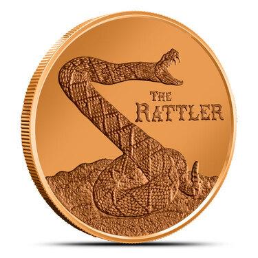 Rattler 1 oz .999 Copper Bullion Rounds Coins 1