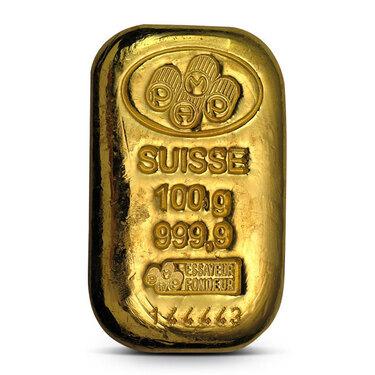 100 Gram Gold Loaf Bar Pamp Suisse