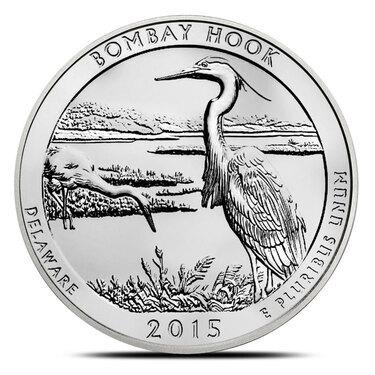 2015-S   BU  Mint State US National Park Quarter Bombay Hook Wildlife Refuge