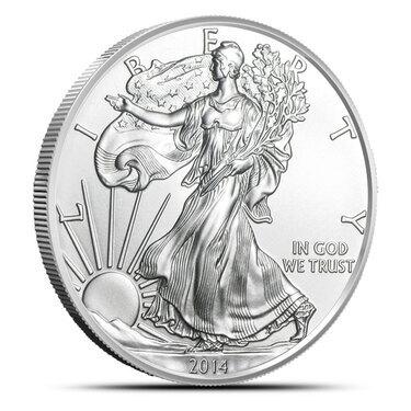 2014 1 oz Silver American Eagle  Brilliant Uncirculated Coin .999 1oz BU