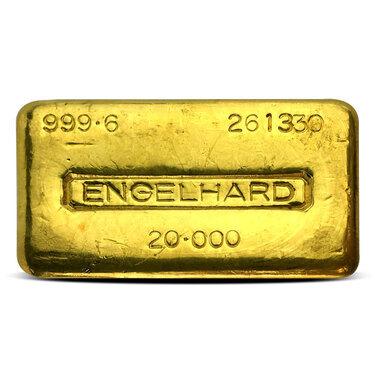 Engelhard 20 Oz Gold Bar
