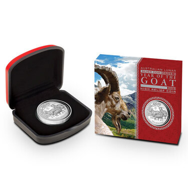 2015 Lunar Goat 1 oz Silver Coin Series II from Perth Mint in Australia