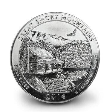 2014 ATB Great Smoky Mountains Quarter S mint Please Read Description