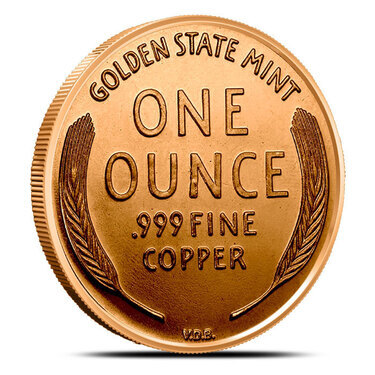 100 New Coins 1 oz each Copper Bullion 1909 LINCOLN WHEAT PENNY Design