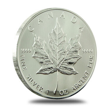 1989 Canadian 1OZ Silver Maple Leaf Coin Original Packaging