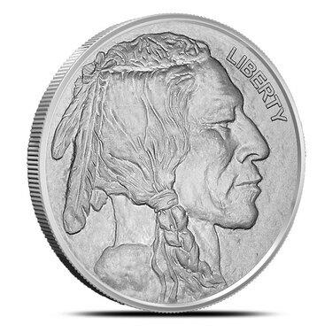 Indian Head Reverse Proof 1 oz .999 Silver Capsuled USA Made Round Buffalo