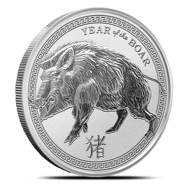 2017 Chinese Lunar Year Of The Rooster 2 oz .999 Silver USA BU Proof-Like Round