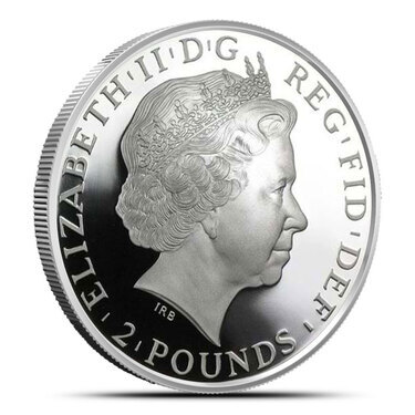 2014 Royal Mint British 1oz Lunar Horse £2 Two Pound .999 Silver 1oz coin