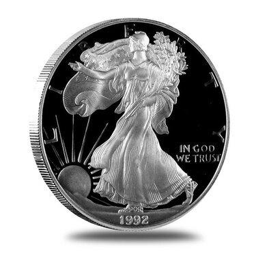 Supplies 1992-S American Silver Eagle NO COINS COA ONLY