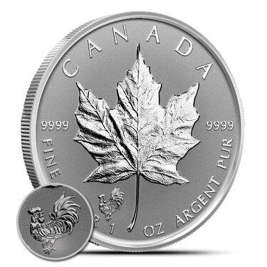 2016 Canada $5 1oz Four Leaf Clover Privy Mark Silver Maple Leaf Bullion coin