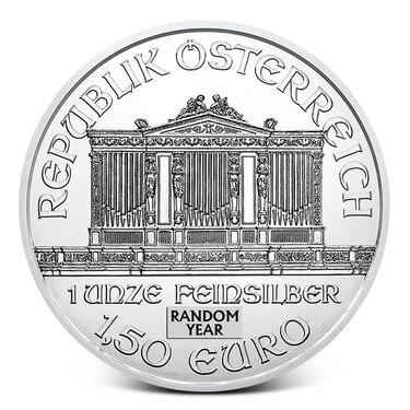 1 oz Austrian Philharmonic Silver Random Year 1 oz .999 fine Silver Coin