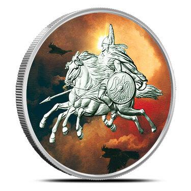 Sleipnir 1oz .999 BU copper round Nordic Creatures