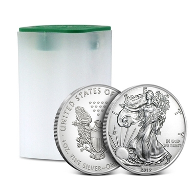 One United States Mint American Silver Eagle Tube ASE