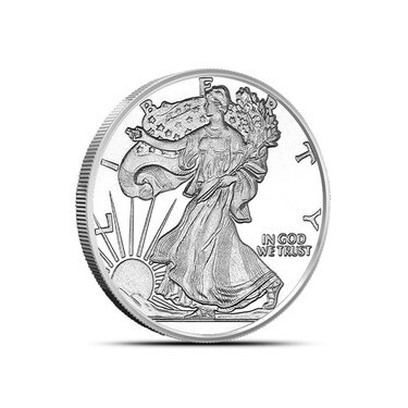 1 GRAM .999 PURE SILVER ROUND WALKING LIBERTY DESIGN 50